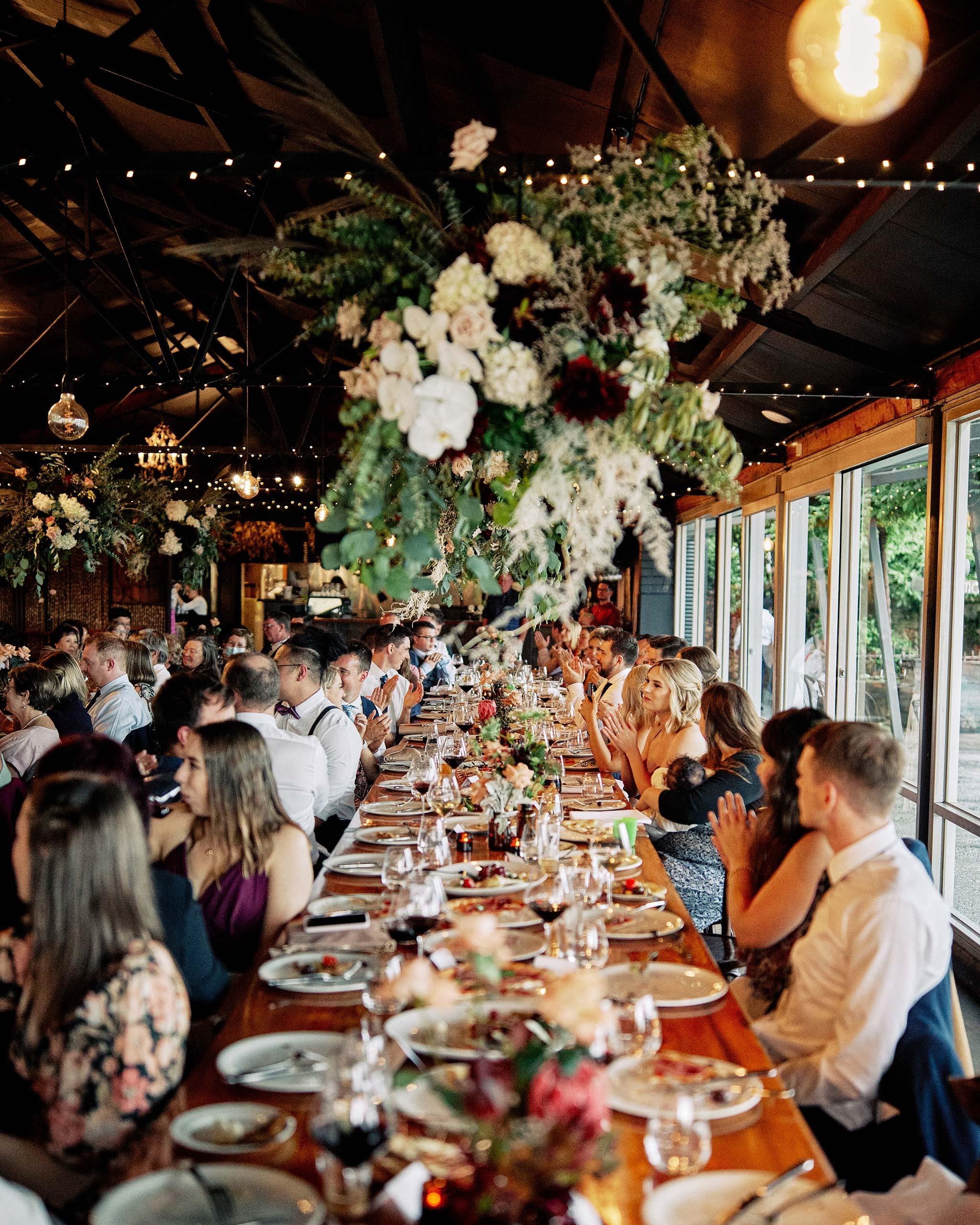 zonzo wedding photography reception table full shot