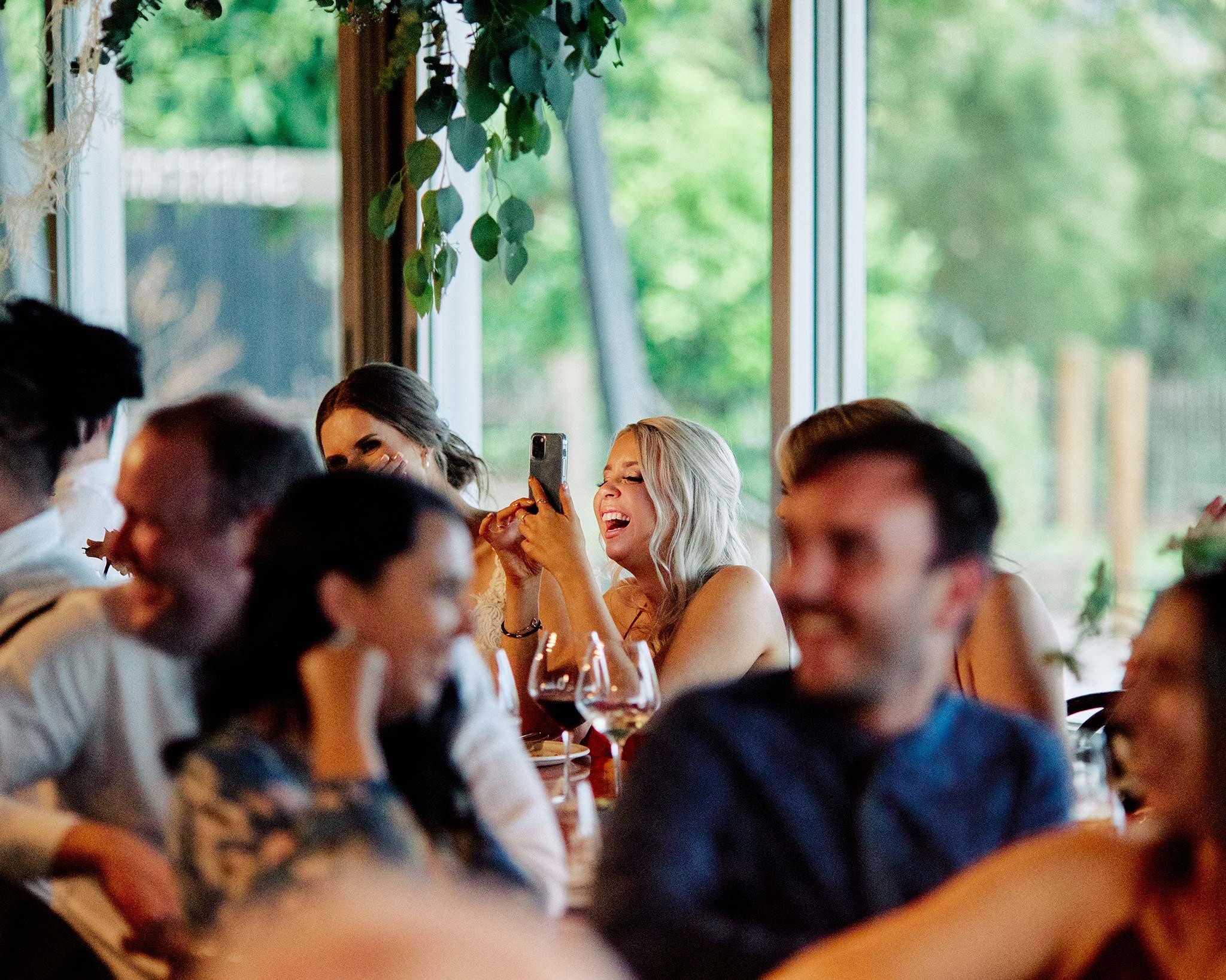 zonzo wedding photography reception videoing speech