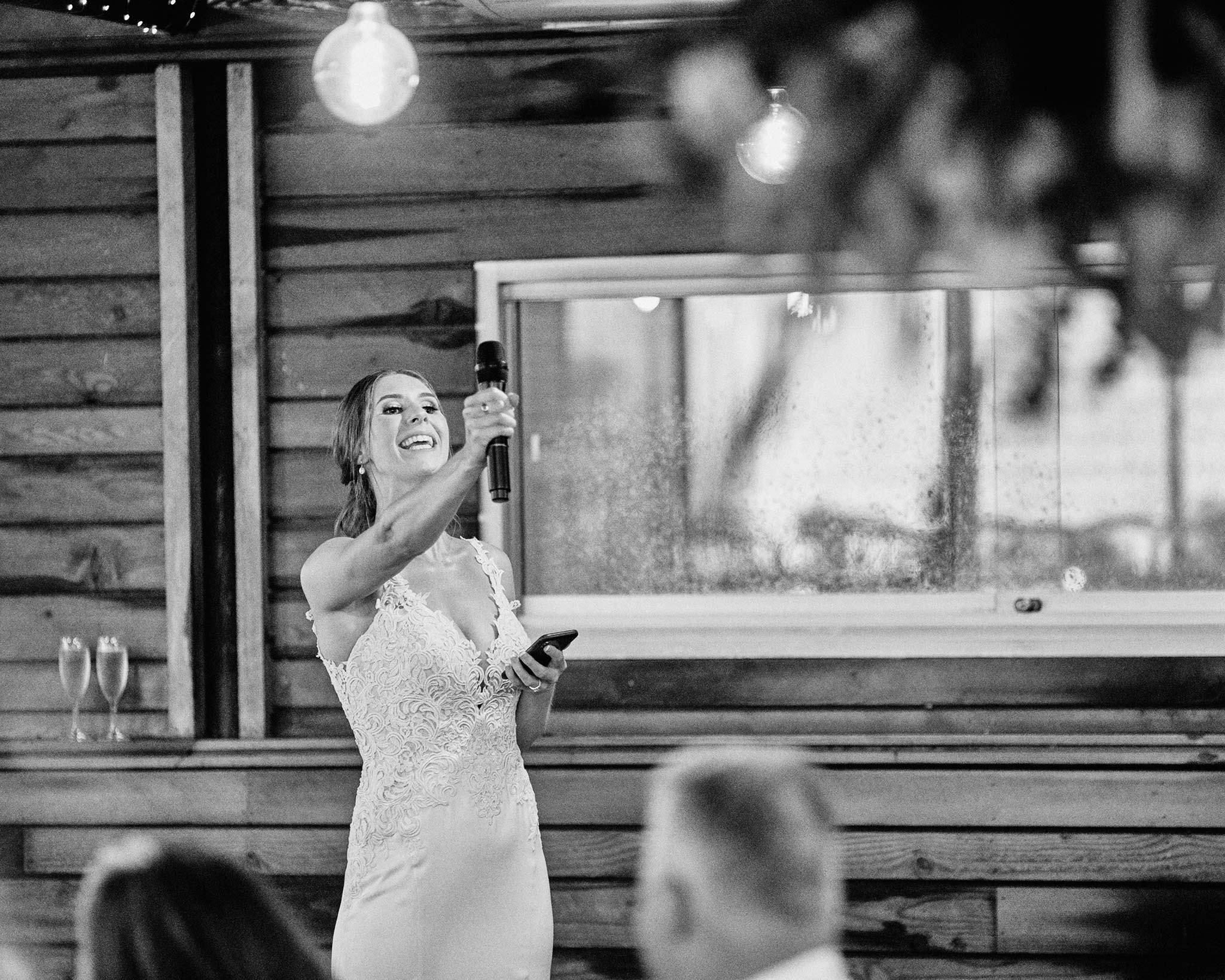 zonzo wedding photography reception bride speech