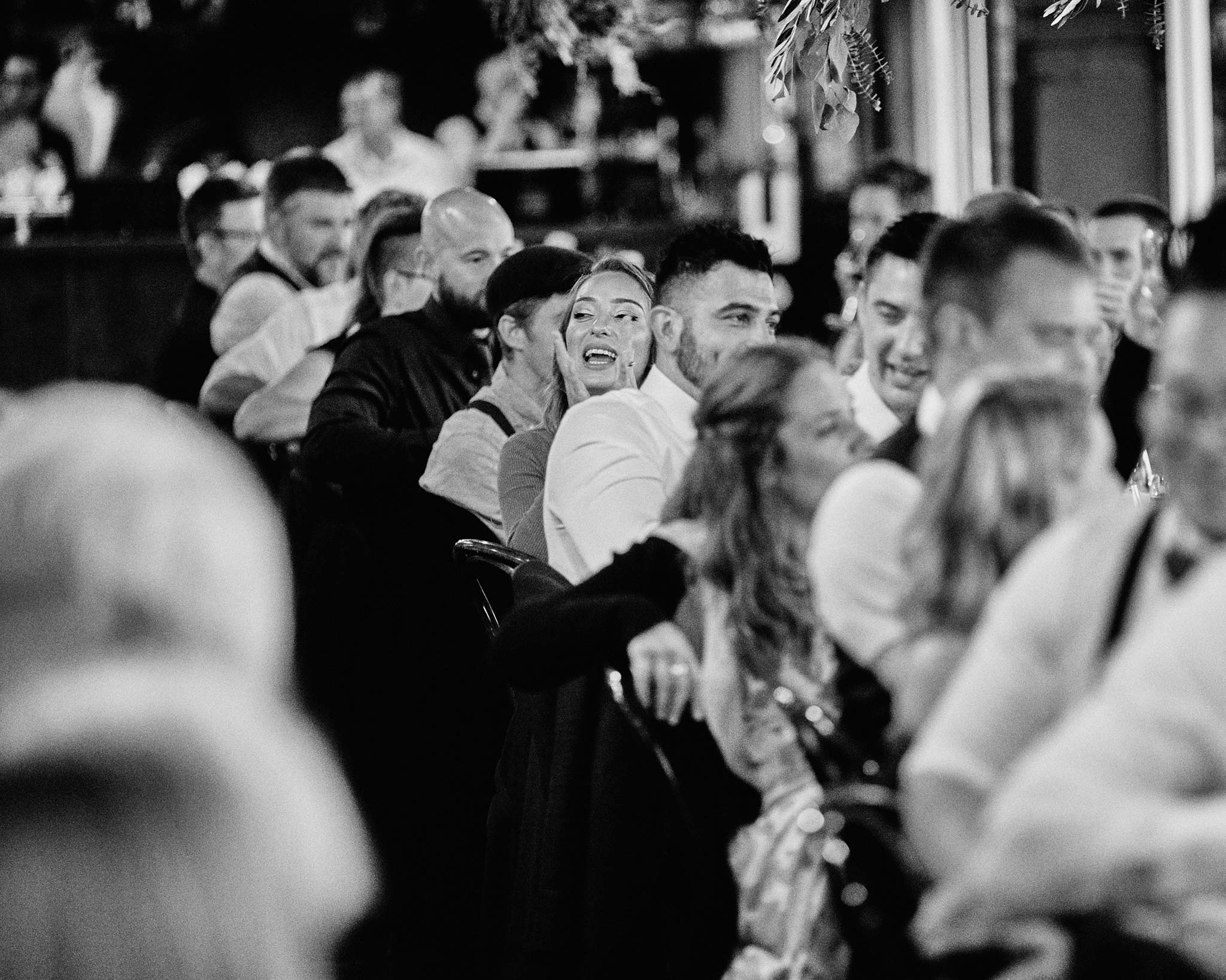 zonzo wedding photography reception guest reaction